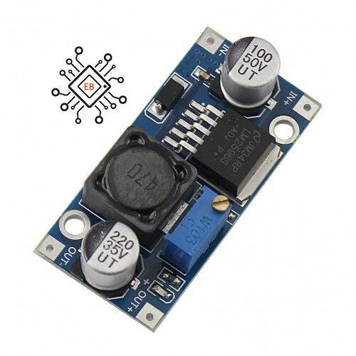 ماژول رگولاتور DC به DC کاهنده 3 آمپر LM2596S با قابلیت تنظیم ولتاژ خروجی