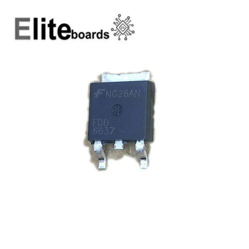 ترانزیستور ماسفت FDD6637 SMD 55A 35V P-channel